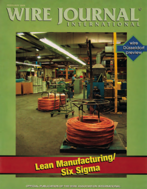 Wire Journal Lean Manufacturing Six Sigma
