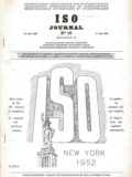 ISO Journal 1952 Cover Page