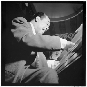 Duke Ellington at his piano